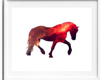 Horse Print, Digital Download, Printable Art, Horse Art, Animal Print