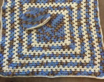 Crocheted Baby Lap Blanket