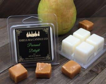 Pearamel Delight Soy Wax Melts, Wax Melts, Soy Wax Melts, Soy Wax Tart, Soy Candle Melts, Wax Warmer, Scented Soy Tart, 4 Cubes