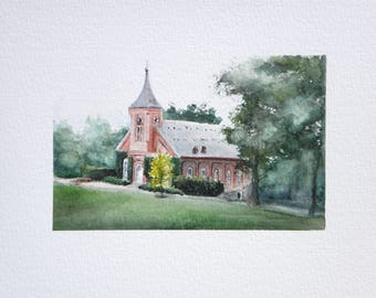 Custom Watercolor Landscape
