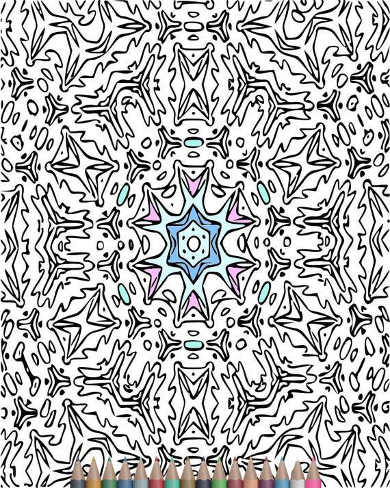 Páginas para colorear de adultos de caleidoscopio patrón