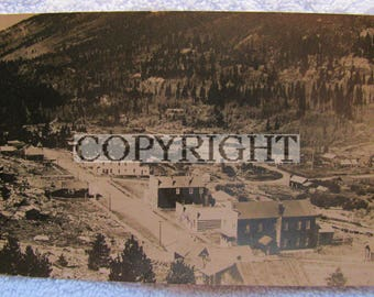 St Elmo Colorado Real Photo Photograph Postcard Ghost Toan Gold Silver Mining Mine Free Shipping