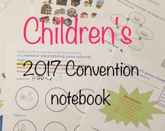 Children's Don't Give Up!  2017 Regional Convention Notebook