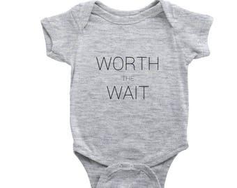 Worth The Wait - Baby/Pregnancy Announcement Onesie