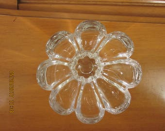 small glass flower bowl