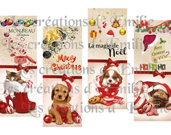 brand pages to print cats and dogs celebrating Christmas