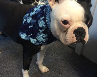 Medium Hand crocheted dog bandana