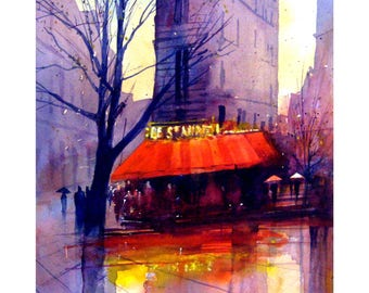 Paris Rain # 2 Limited Edition Giclee print Signed and numbered by the artist Martin Oates  *Buy two get one free*
