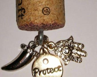 Protect charm Keychain