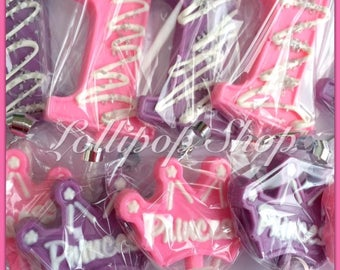 12 Princess chocolate lollipops (Birthday, princess party favors, baby shower, first birthday)