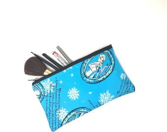 Cosmetic Bag, Makeup Brush Holder, Make-up Bag, Makeup Bag, Pencil Case, Makeup Organizer, Makeup Organizers, Zipper Pouch, Frozen, Elsa