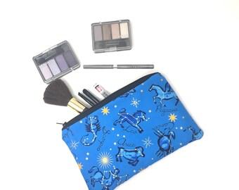 Cosmetic Bag, Makeup Brush Holder, Make-up Bag, Makeup Bag, Pencil Case, Makeup Organizer, Makeup Organizers, Zipper Pouch, Zodiac,Astrology
