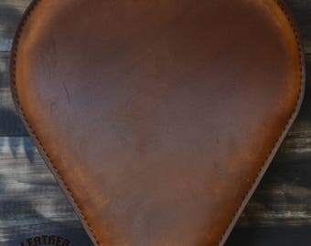 Handmade Bobber Seat Drop Vintage Brown