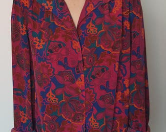 Shirt / Paisley / DEVERNOIS / Fuchsia / Made in France
