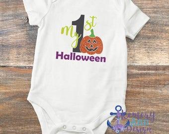 First Halloween Shirt, My First Halloween Bodysuit, Halloween Shirt, Girls First Halloween, Boys First Halloween, Halloween Pumpkin Shirt