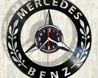 Mercedes-Benz vinyl record wall clock best eco-friendly gift for any occasion