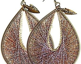 Ladies Earrings, Handmade TearDrop Dangle Earrings, 5 colours available