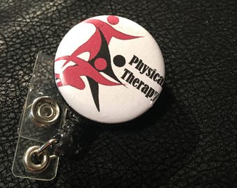 Physical therapy name badge holder