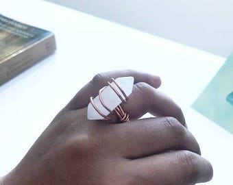 Crown Chakra Copper Queen Ring
