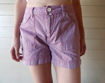 Red, Blue, and White striped Riveted by Lee Vintage shorts