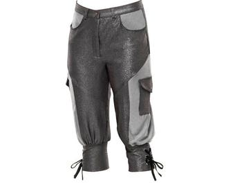 Hip-Hop Metallic Capri Pants