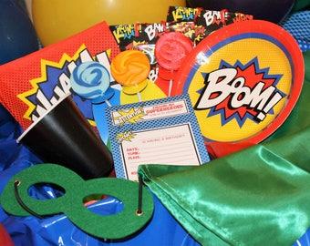 Complete Superhero Birthday Party Kit