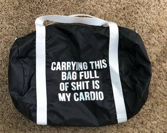 Carrying this bag...