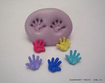 Baby Hands Silicone Mould, Sugarcraft, Cup Cake Card Topper, Crafts, Fimo