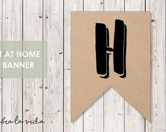 DIY Banner - 'H'. Instant Download. Printable Banner Letters. - 02