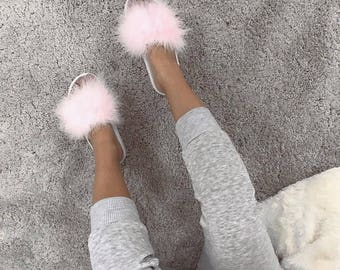 Super furry slides sandals