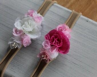 Newborn Baby Roses Headband