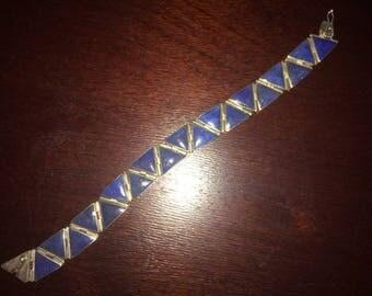 950 Silver Lapis Lazuli Bracelet