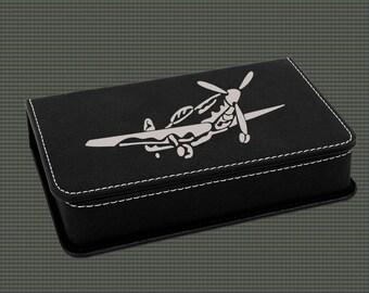 Leatherette Wine Tools Gift Set - Airplane Designs