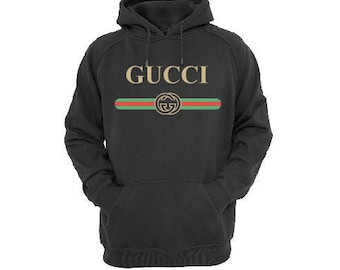 Designer Inspired Vintage Retro Gucci Hoodie Sweatshirt, Woman Men Black Luxury Royalty Hip Hop Style Asap Rock Hoodie Sweatshirt Gift
