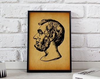 Abraham Lincoln American President Vintage poster, Abraham Lincoln wall art, Abraham Lincoln wall decor, Abraham Lincoln print, Gift poster