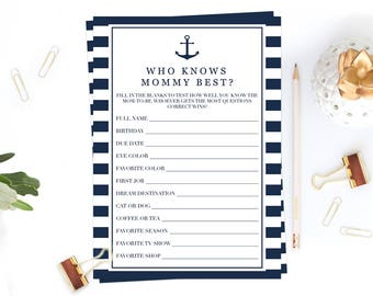 Navy Baby Shower Activities Who Knows Mommy Best Baby Shower Game Questions Printable Baby Game Boy Baby Shower Themes Fun Baby Games NS1