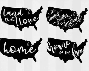 United States SVG Bundle, United States clipart, US cut files, US svg files for silhouette, files for cricut, svg, dxf, eps, cuttable design