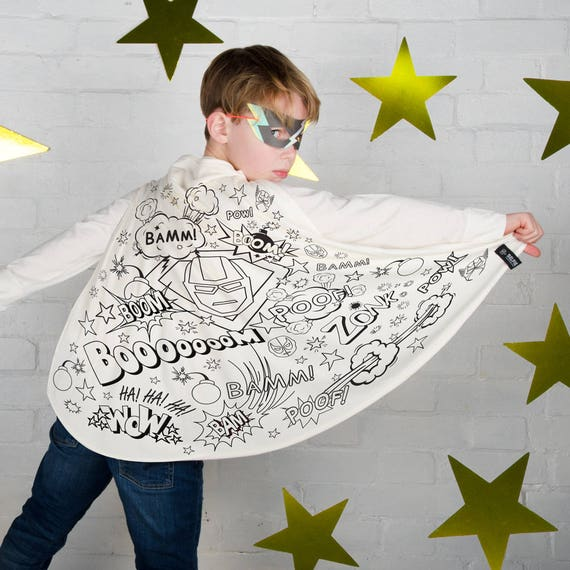 Superhero Cape <br> Fabric Coloring Kit