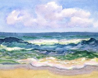 Landscape Original Watercolour Painting Q77