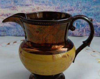 Copper milk jug, copper kitchen, vintage jugs, copper jug, old jug