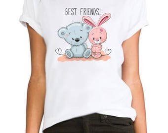 Best friend ladies fitted fashion tumblr Rihanna printed hipster swag  ladies/womens/girls 100% cotton tshirt tops tee