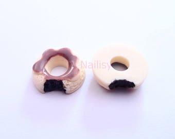 1 cabochon 20mm REF1983 vanilla donuts