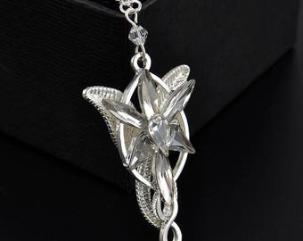 Arwen pendant. Lord of the Rings. Elfico. Arwen Evenstar Elvish Rhinestone Pendant.