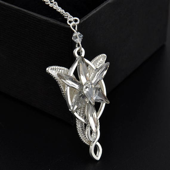 Arwen pendant lord of the rings elvish arwen evenstar arwen pendant lord of the rings elvish arwen evenstar elvish rhinestone pendant aloadofball Image collections