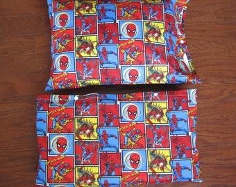 Spiderman Nap Mat Cover with Matching Pillow Cover
