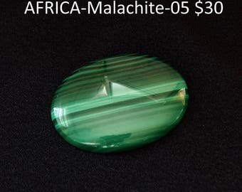 40x30x6 mm MALACHITE cabochon - highly polished
