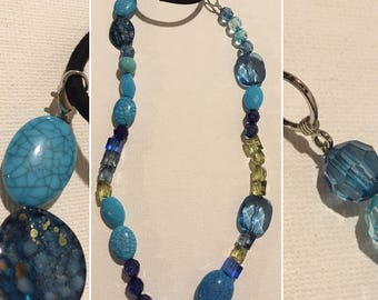 Handmade HillHippy Beaded Necklace and Headband in one!
