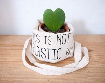 Tote bag, This is not a plastic bag, quote, Market, School bag, veganstyle