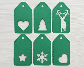 Christmas Die Cut Tags