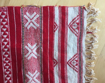 Vintage carpet table runner carpet tablecloth boho